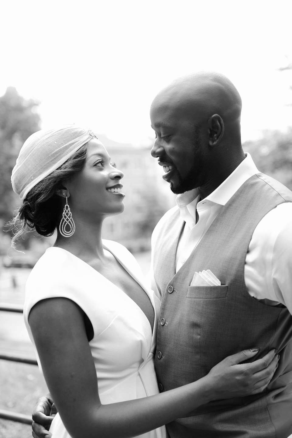 Engagement Photos NYC of Erin and Kwame in Harlem by NYC Wedding Photographer XOANDREA, Couture wedding photography