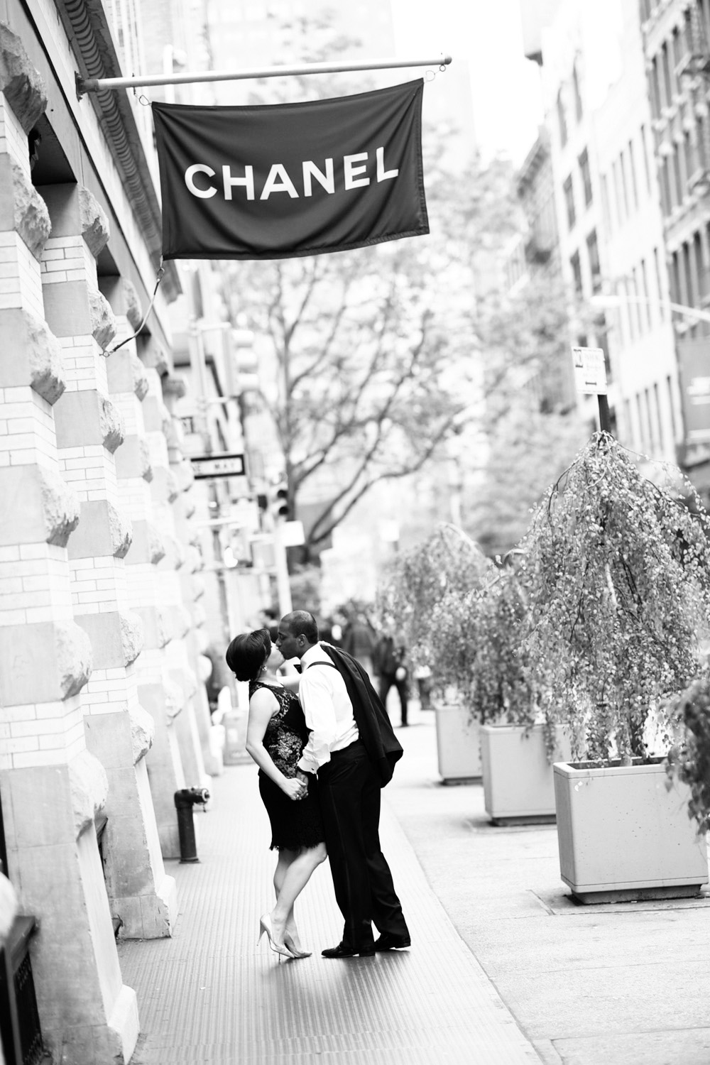Evelyn and Ram's engagement photos taken in Soho New York just before their Soho House Wedding, photographed by wedding photographer New York XOANDREA